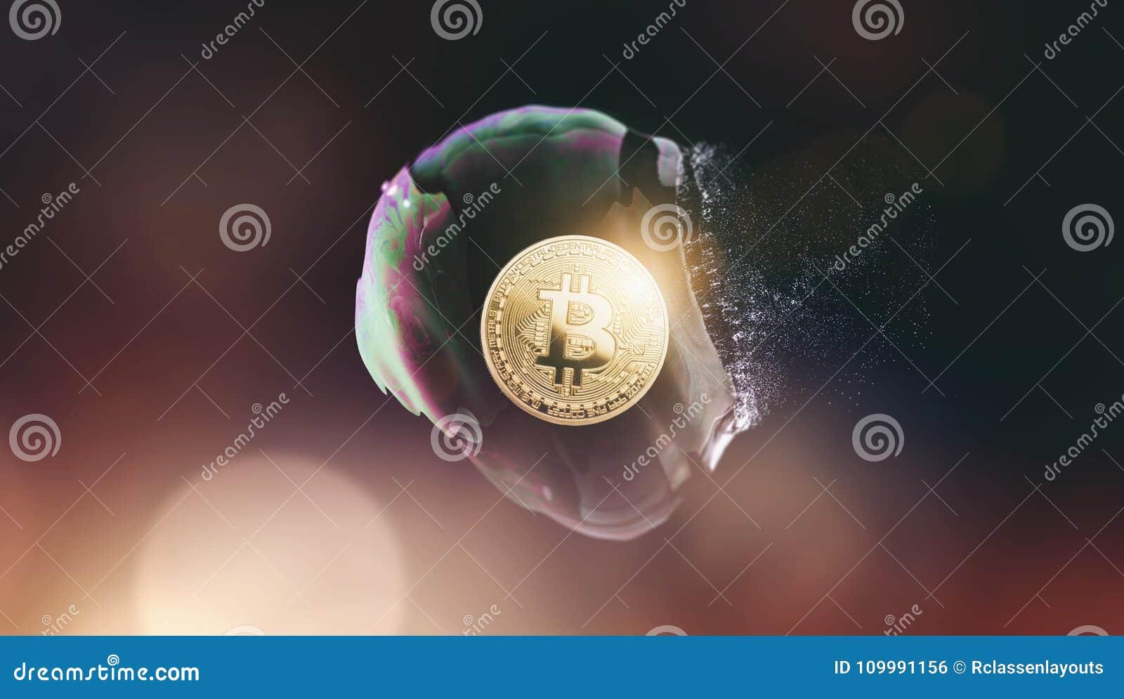 Bitcoin bąbla wybuch cyfrowy cryptocurrency co - trzask -