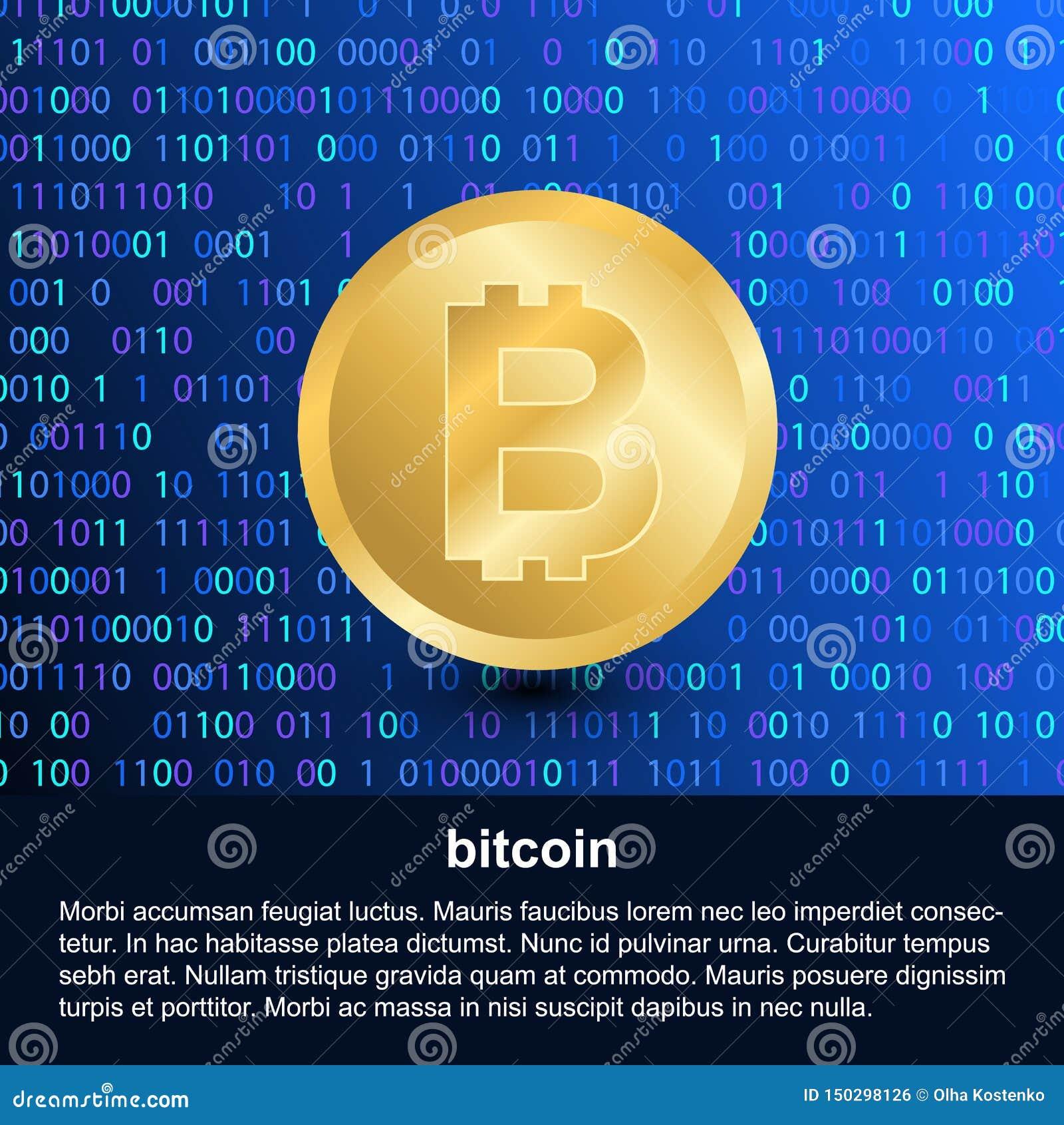 Bitcoin beståndsdel på digital modern bakgrund