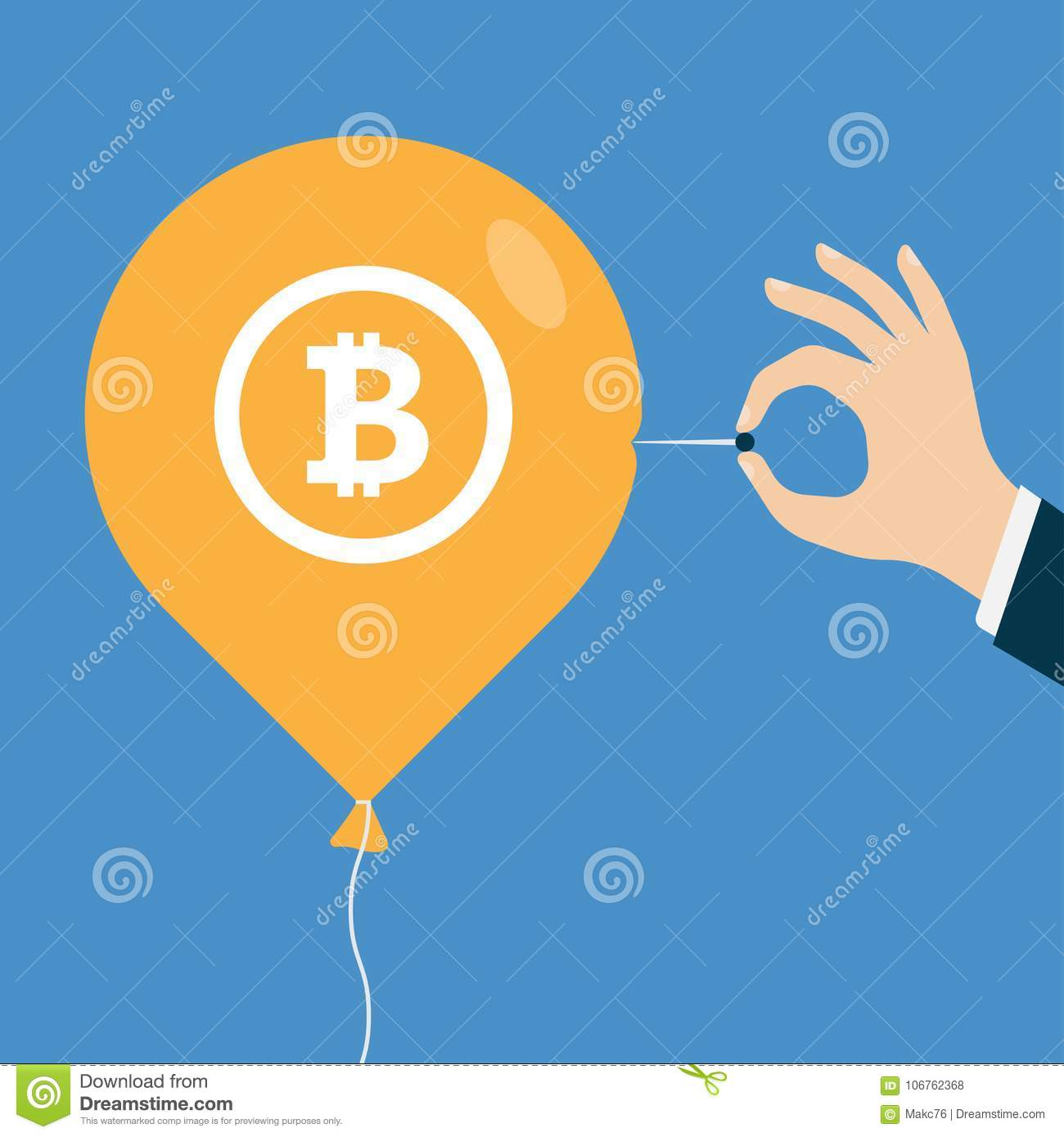 Bitcoin bubble burst or decline of the bitcoin currency