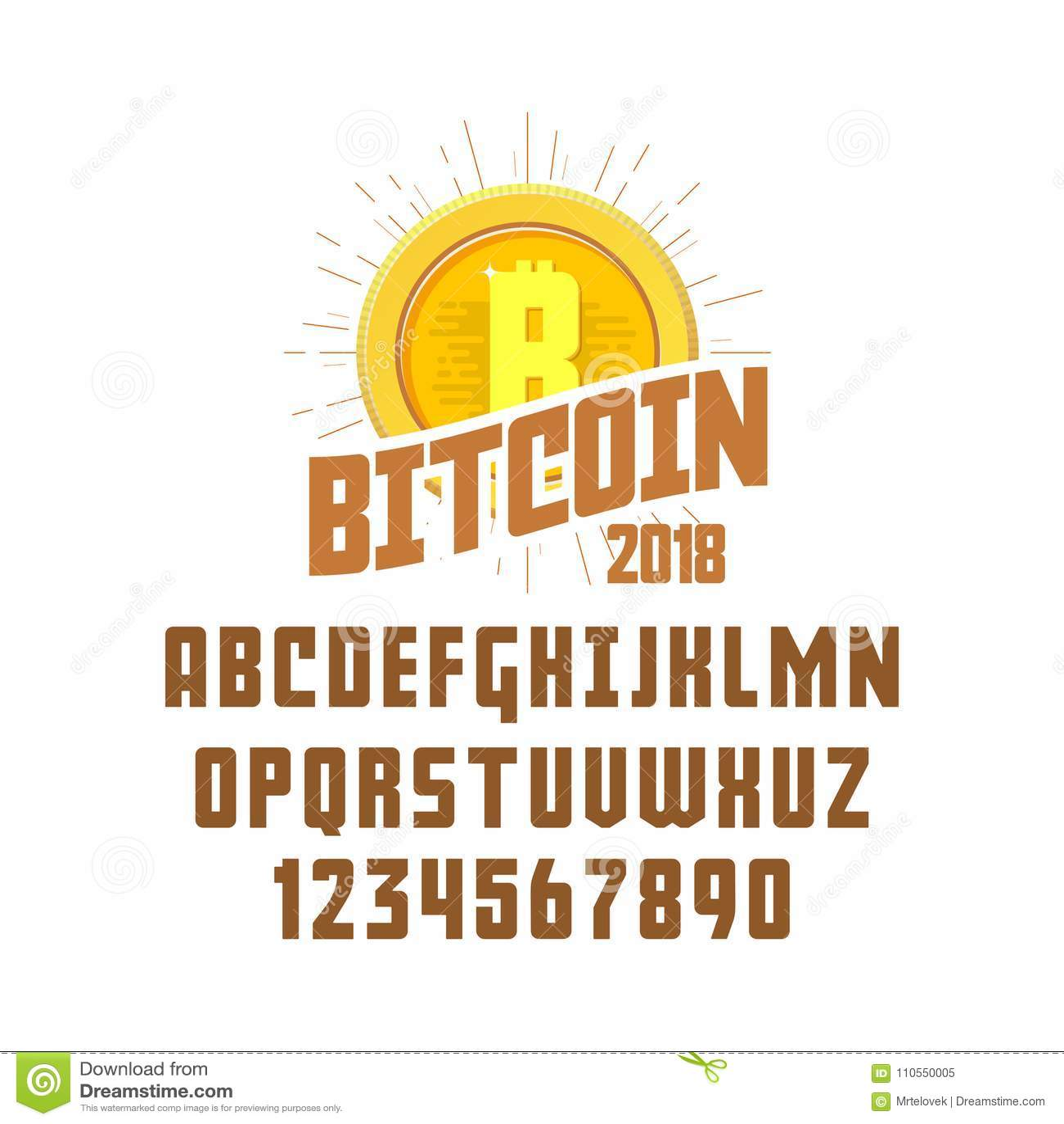 Bitcoin Concept And Font. Digital Money. Blockchain ...