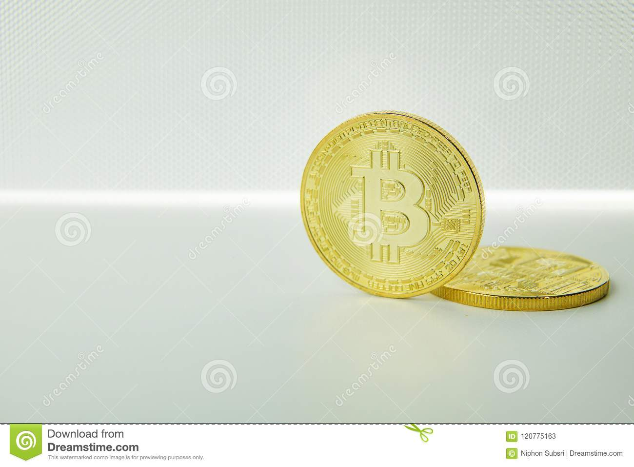 Bitcoin crypto currency electronic money image closeup.
