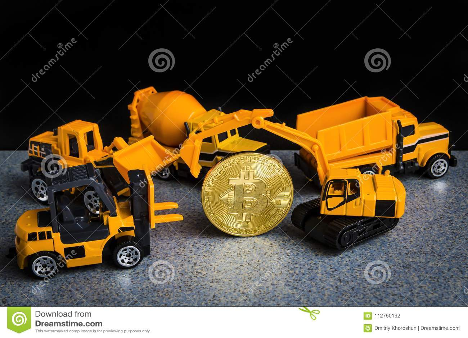 Bitcoin cryptocurrency采矿概念 Blockchain技术 MI