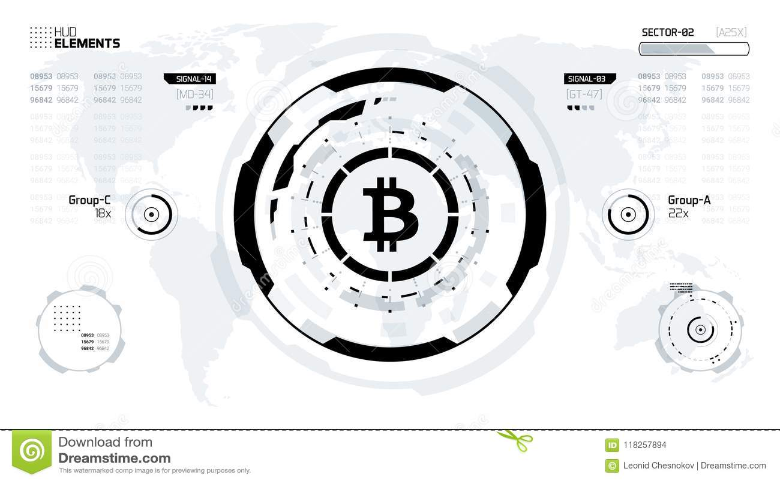 digital technology world  business virtual concept  vector