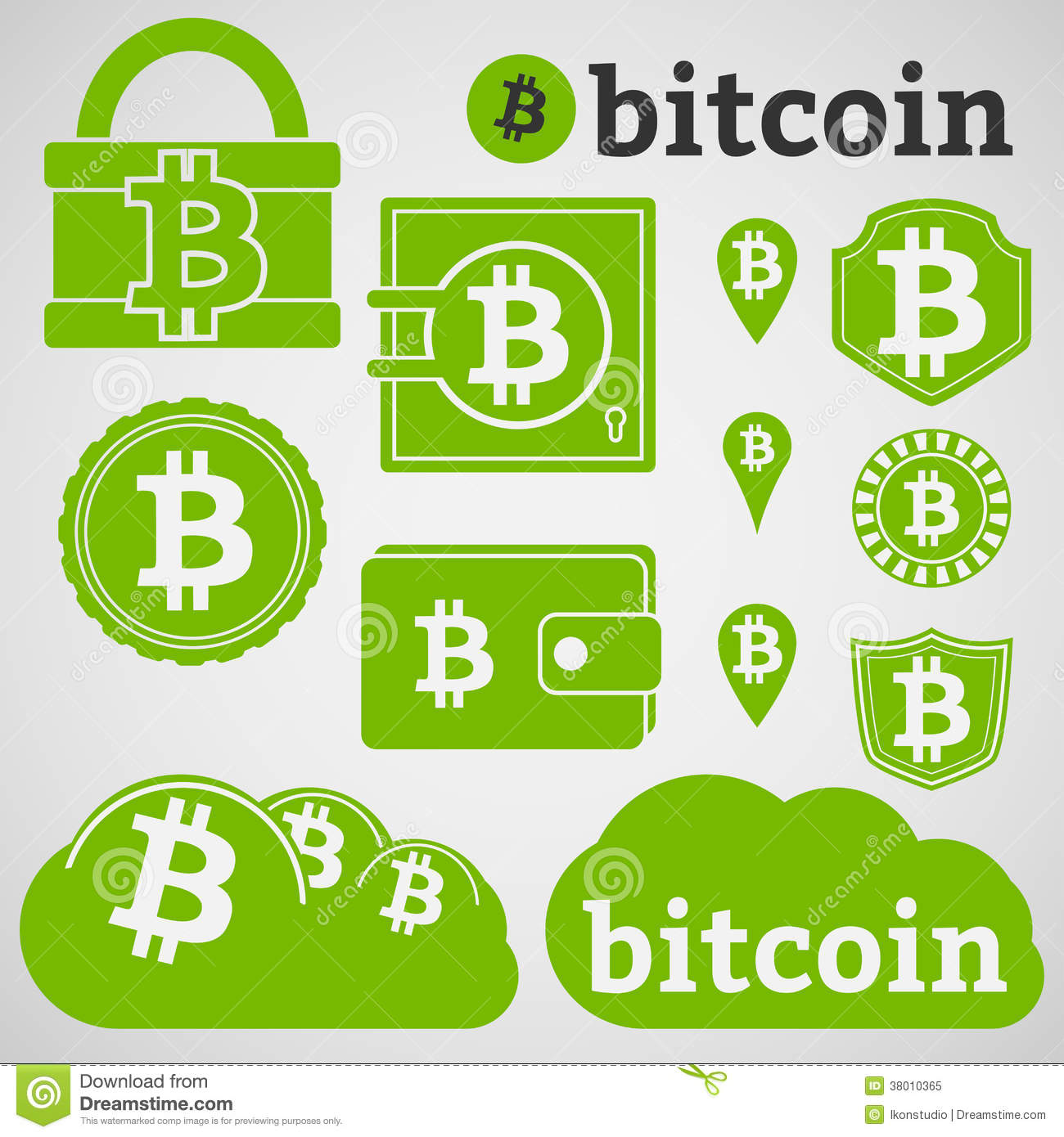 B  Bitcoin Currency Icons...