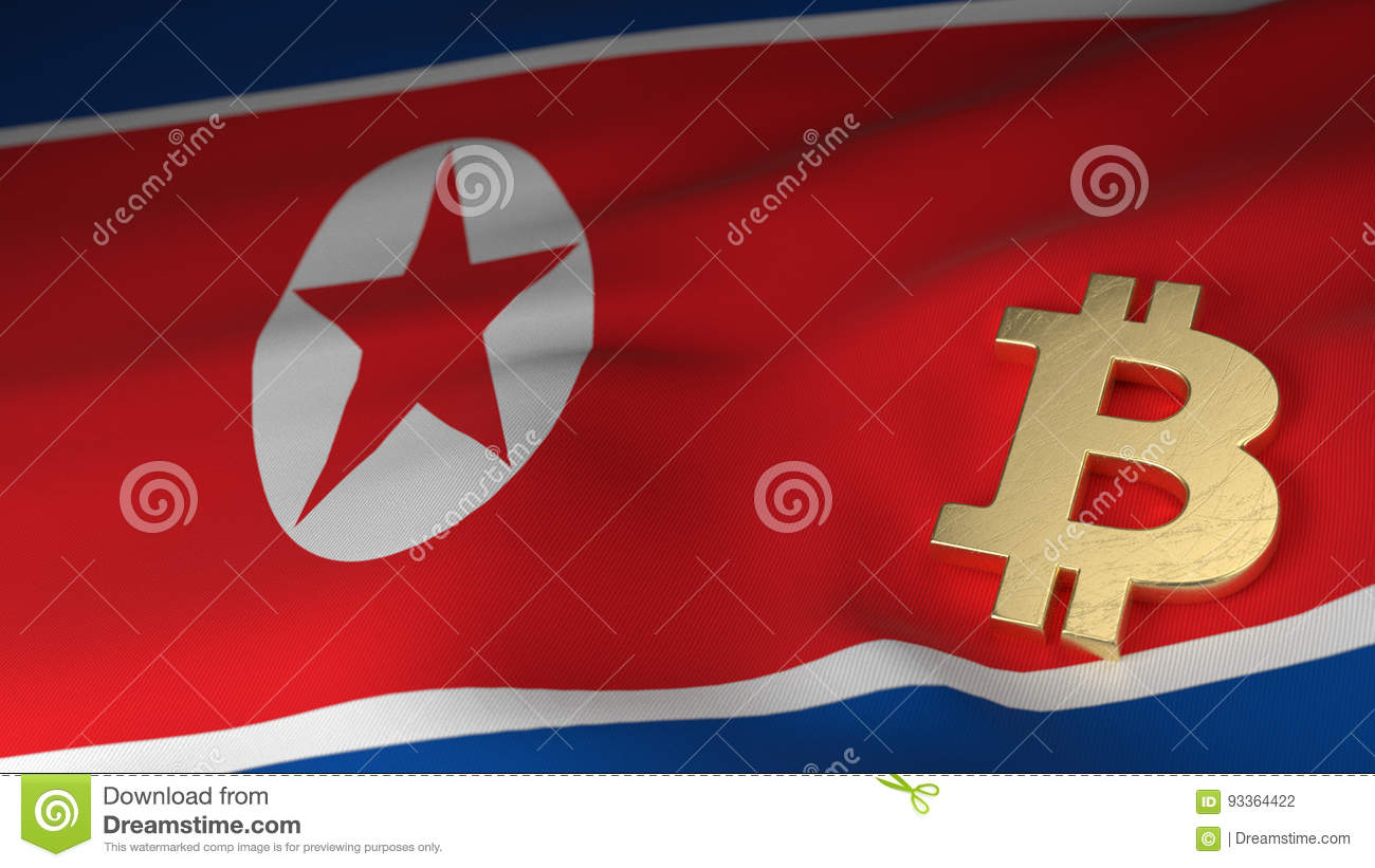Bitcoin currency symbol on flag of north korea stock illustration bitcoin currency symbol on flag of north korea buycottarizona