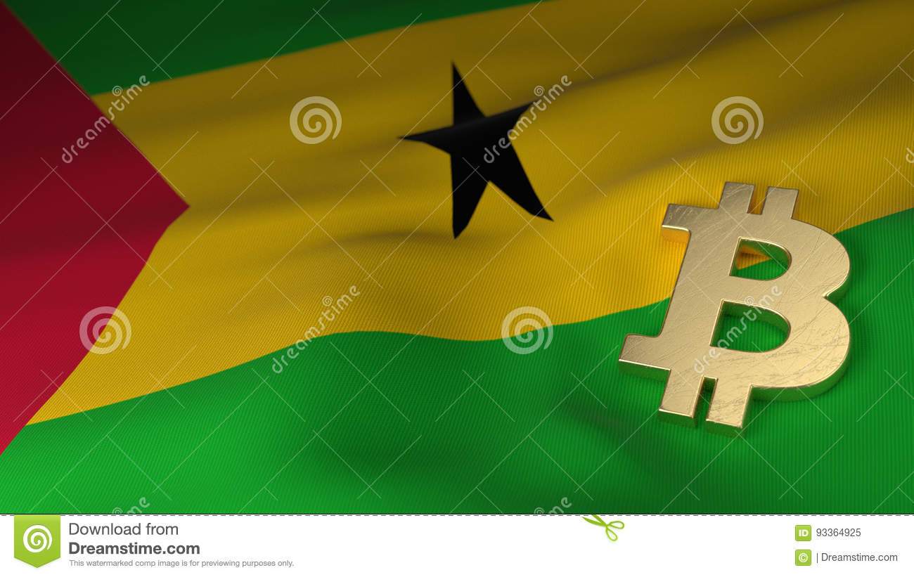 Bitcoin currency symbol on flag of sao tome and principe stock bitcoin currency symbol on flag of sao tome and principe buycottarizona