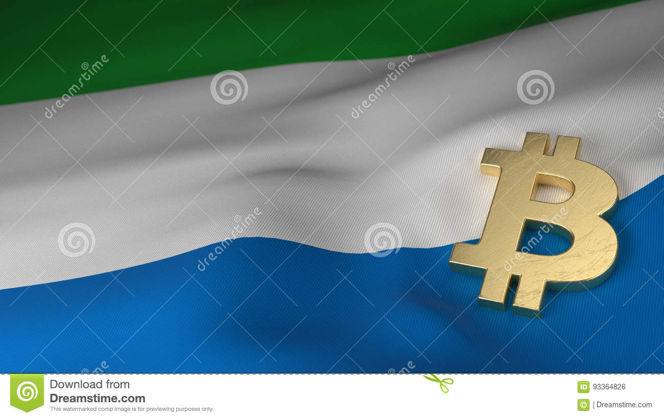 Bitcoin currency symbol on flag of sierra leone stock illustration bitcoin currency symbol on flag of sierra leone biocorpaavc