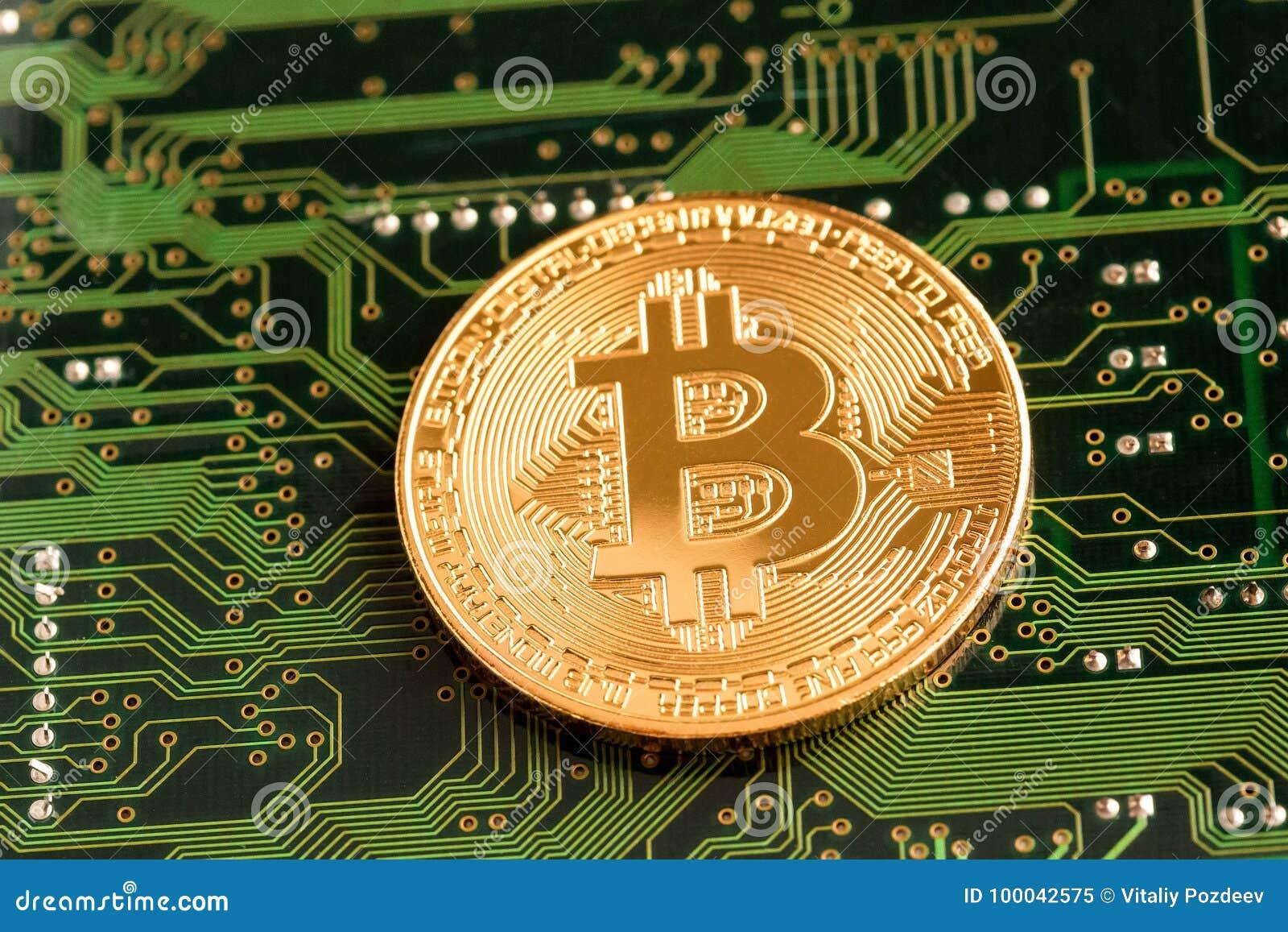 Bitcoin d or Cryptocurrency sur la carte