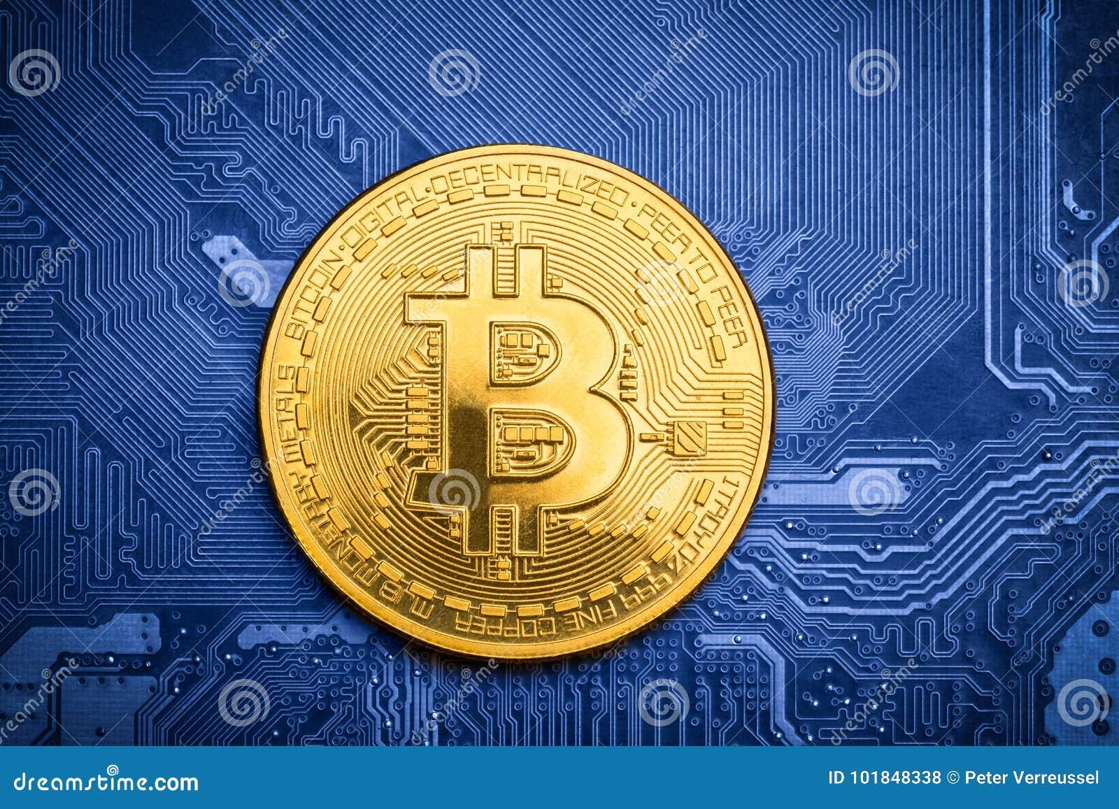 Bitcoin d or sur la carte électronique