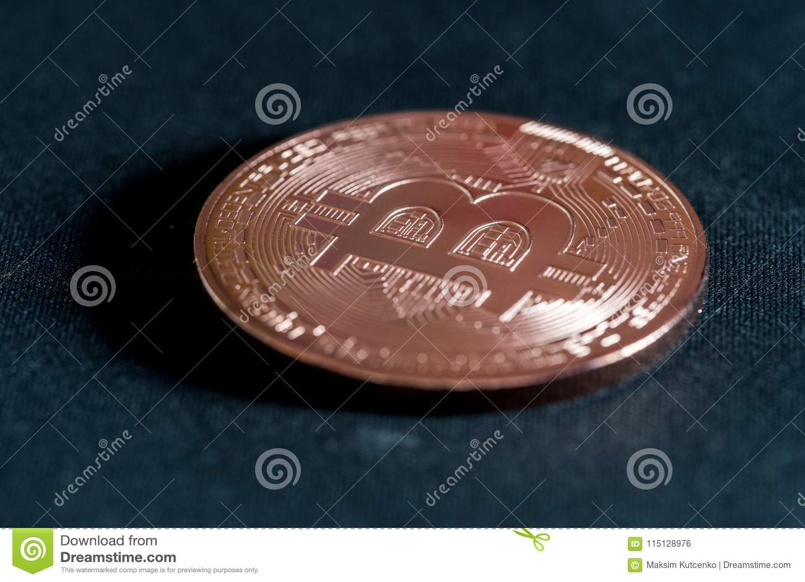 Bitcoin de crypto-devise de pièce de monnaie en cuivre