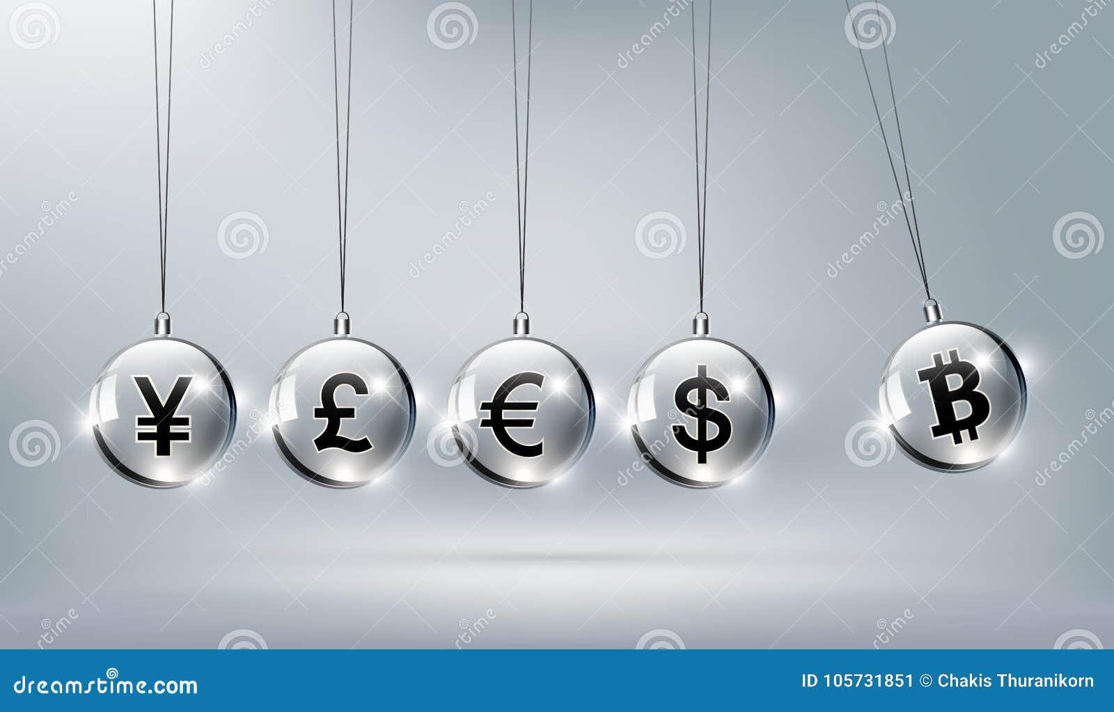 Bitcoin digital valuta, dollar, euro, pund, yen