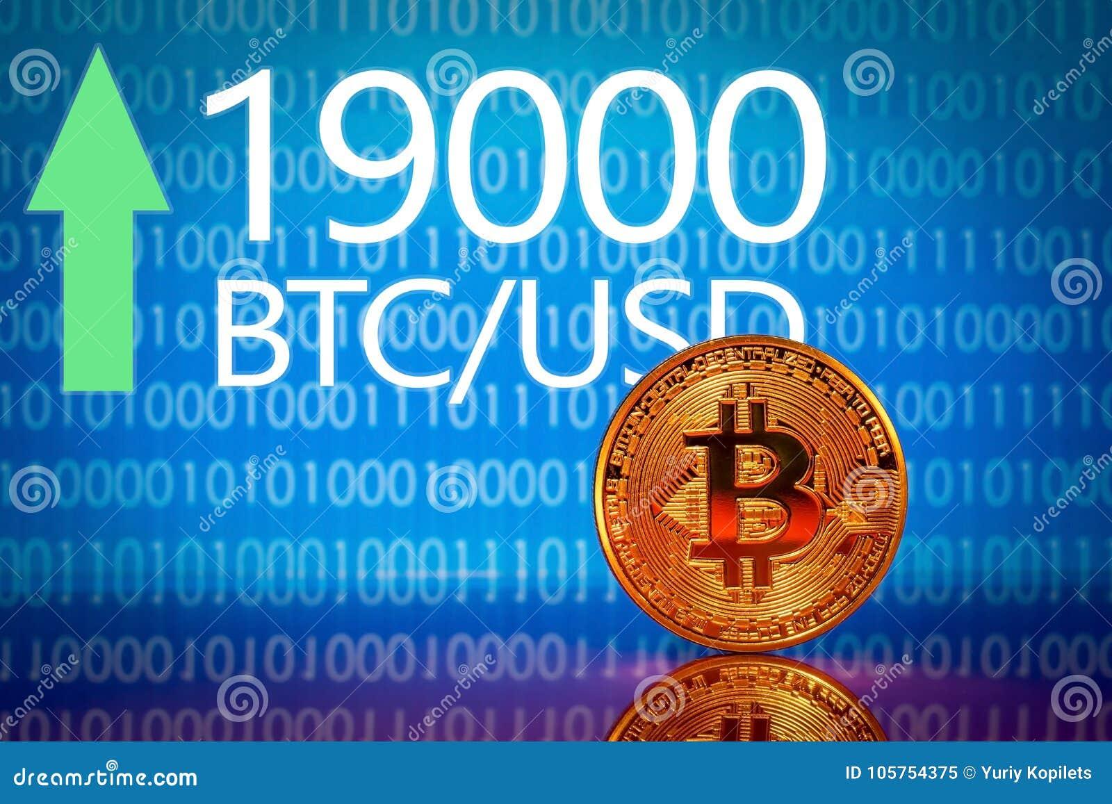 Bitcoin Disque des prix de bitcoin du marché - dix-neuf mille 19000 dollars US