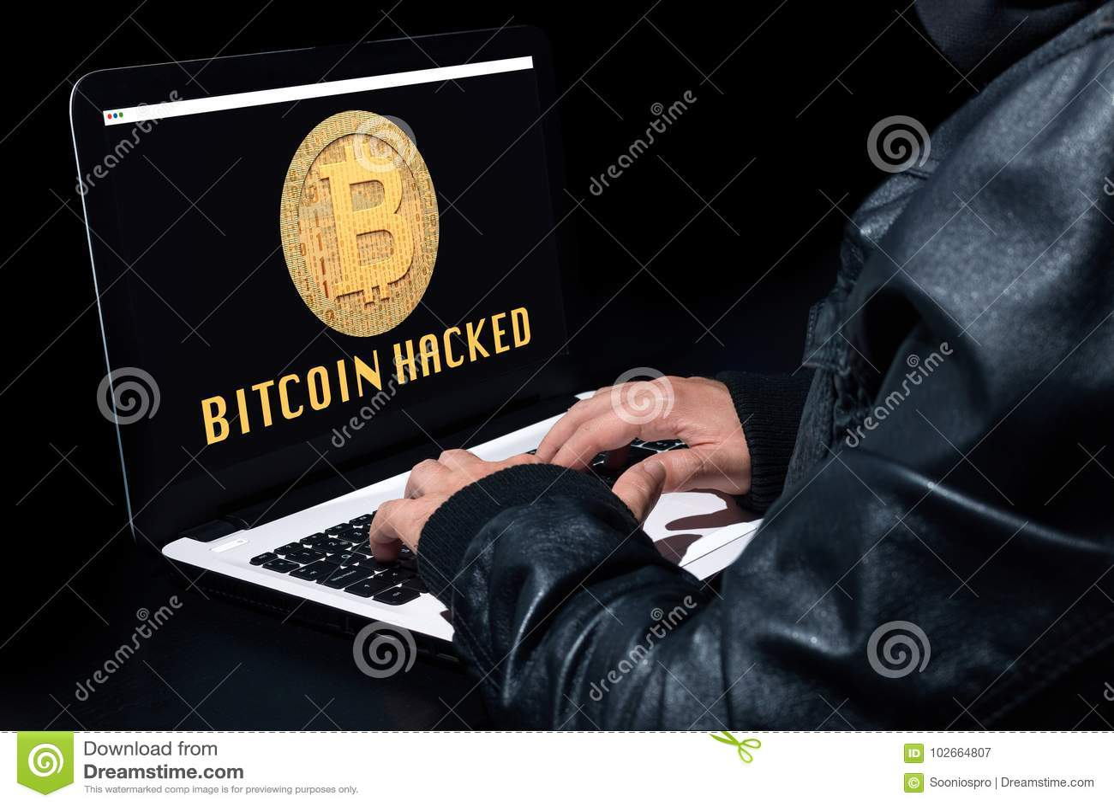 Bitcoin a entaillé avec un ordinateur portable