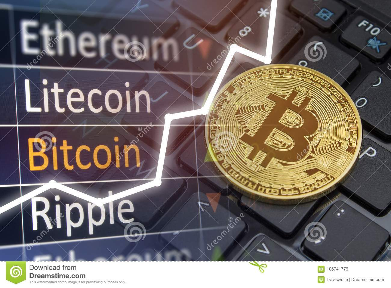Bitcoin Exchange Concept. Currency And Financial Market ...
