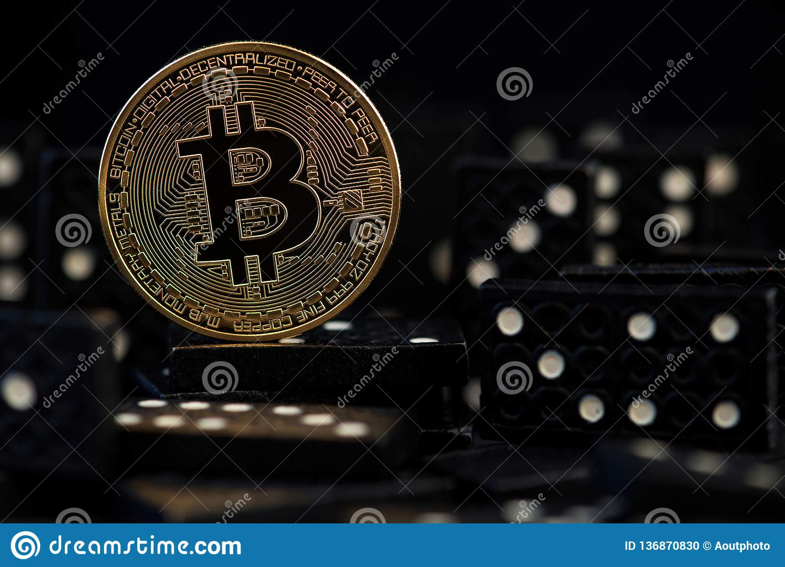Bitcoin fall down Virtual money risk, crisis and collapse Dangers and risks of investing to bitcoin domino effect money.