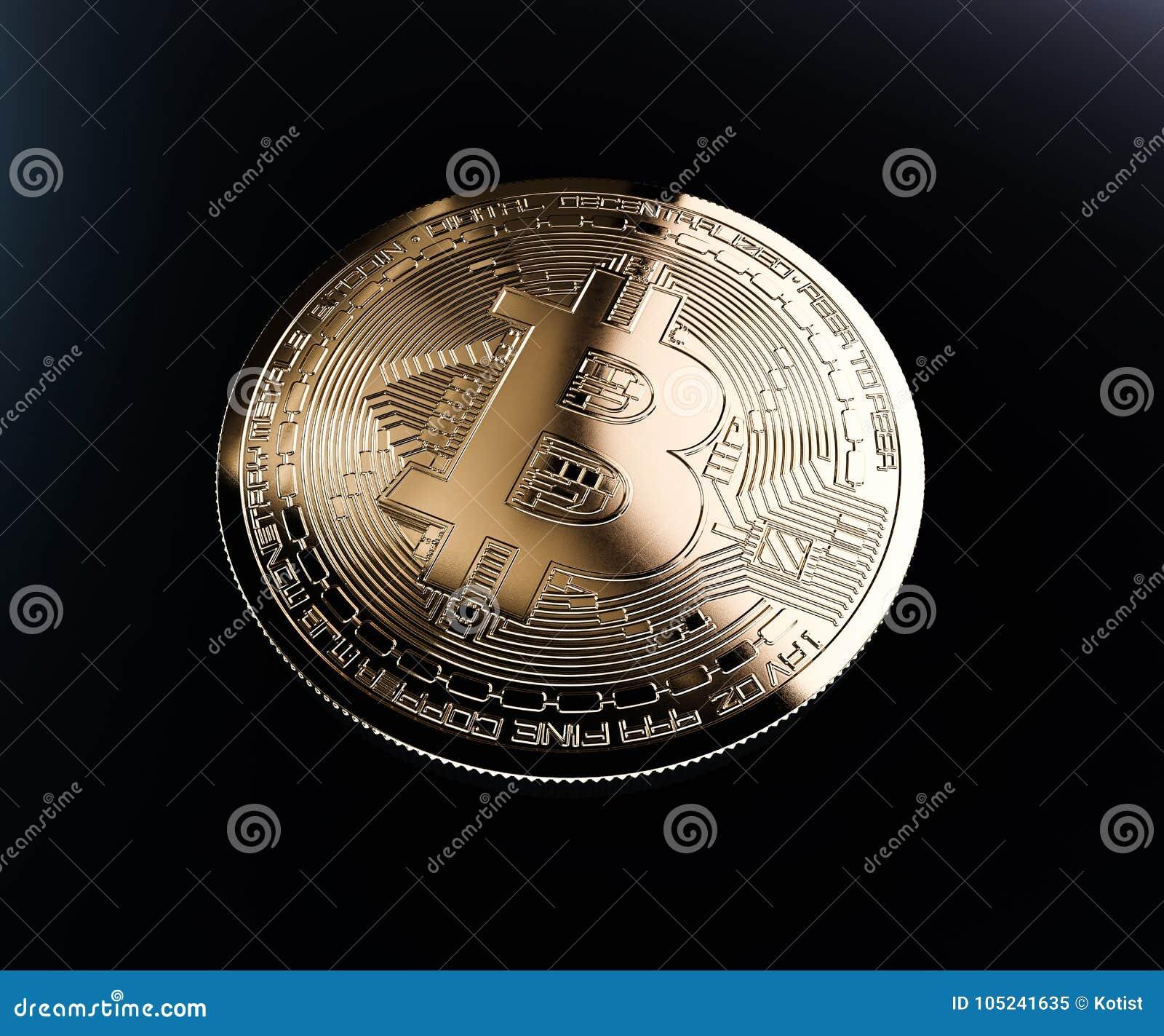 Bitcoin golden coin