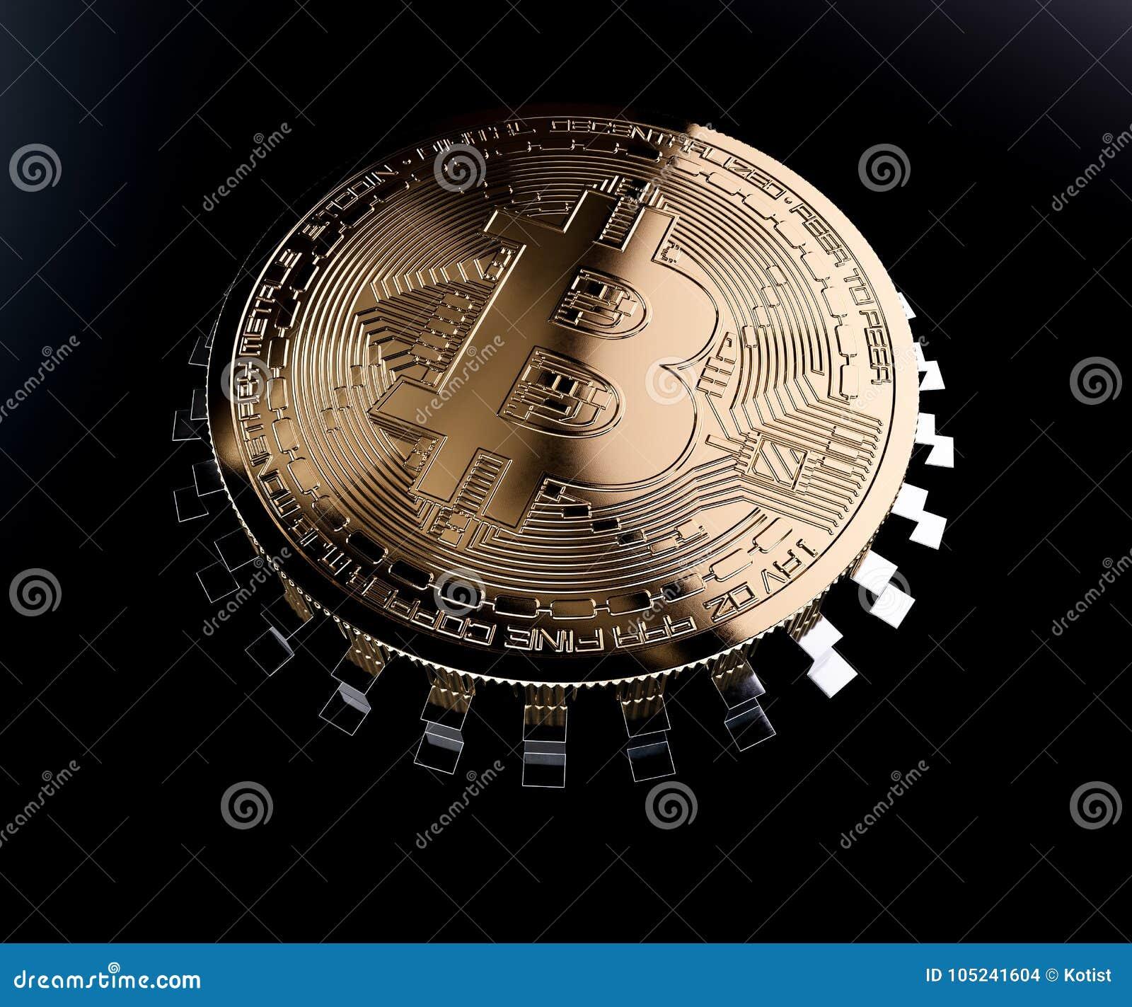 Bitcoin golden coin chip
