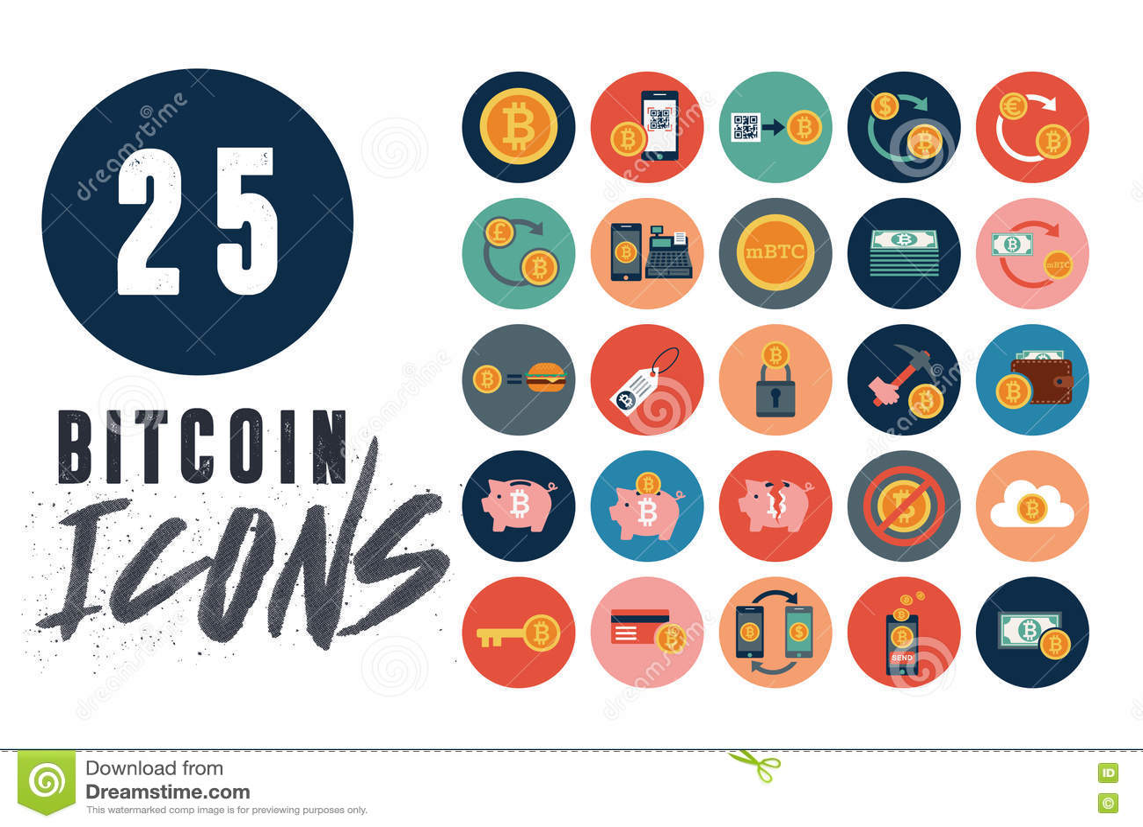Bitcoins Investment Business Icons Vector Illustration | CartoonDealer.com #91337306