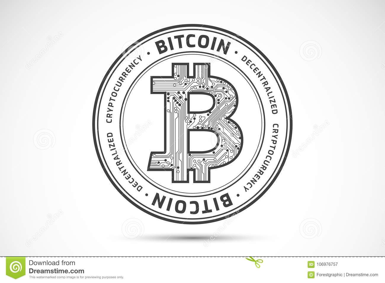 Bitcoin Logo Sign - Abstract Business Background Vector ...