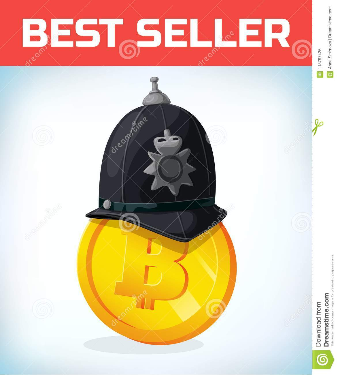 Bitcoin In London Policeman Helmet Bitcoin Digital Currency