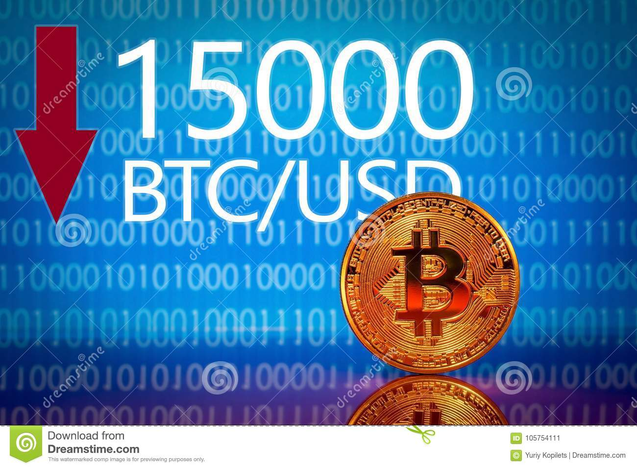 Bitcoin  Market Bitcoin Price - Fifteen Thousand 15000 US Dollars