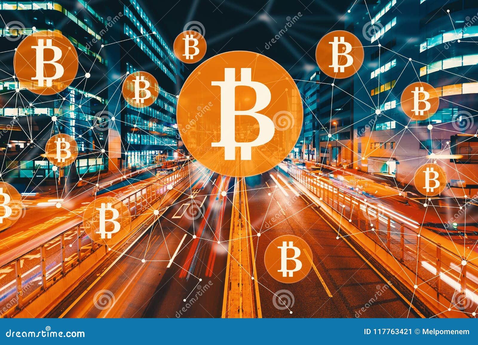 Bitcoin med suddig trafik för rörelse