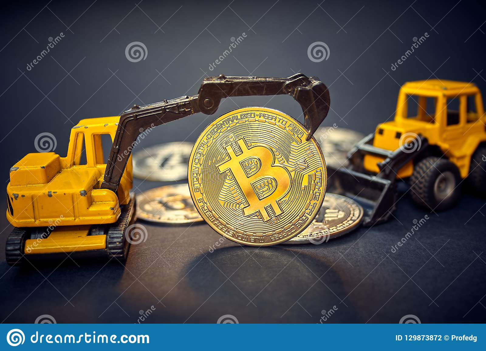 Bitcoin Excavator That Works In The Mine In Search Of -