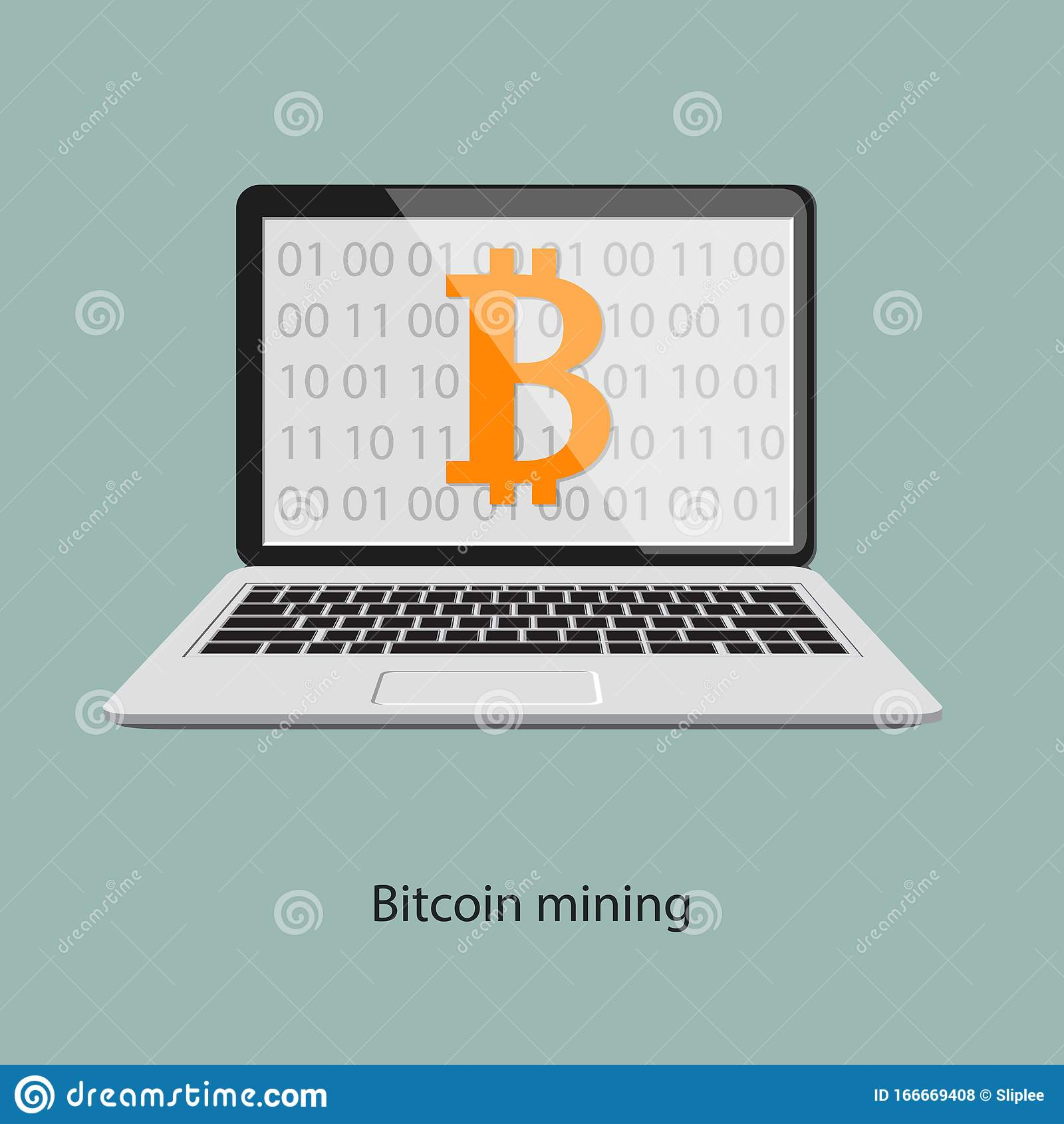 cryptocurrency mining on laptop