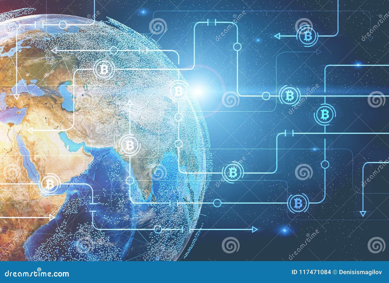Bitcoin-Netz gegen Planet Erde
