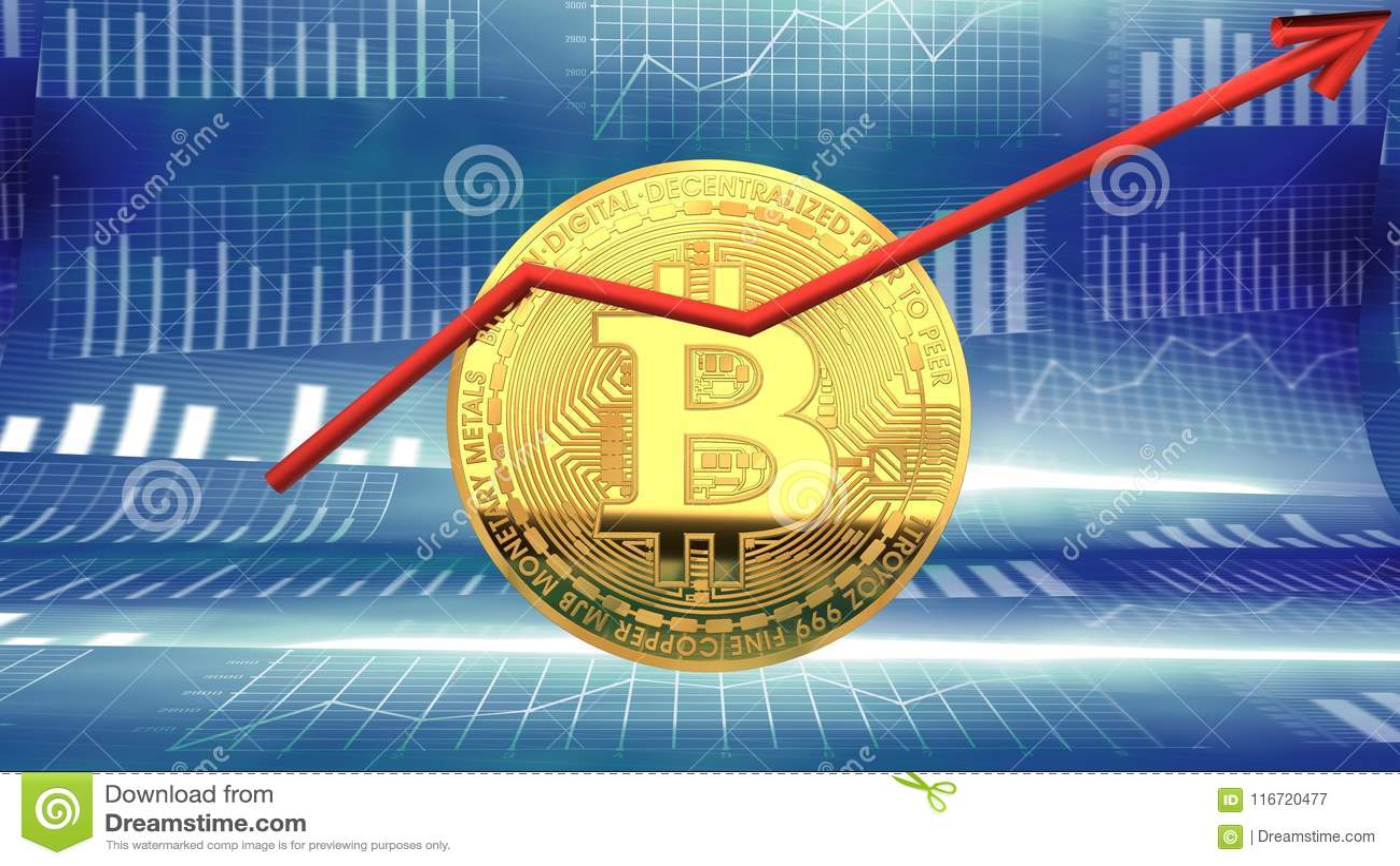 Bitcoin, neuer Nachrichtenhersteller, Cybermünze, die Investoren ` Aufmerksamkeit gewinnt