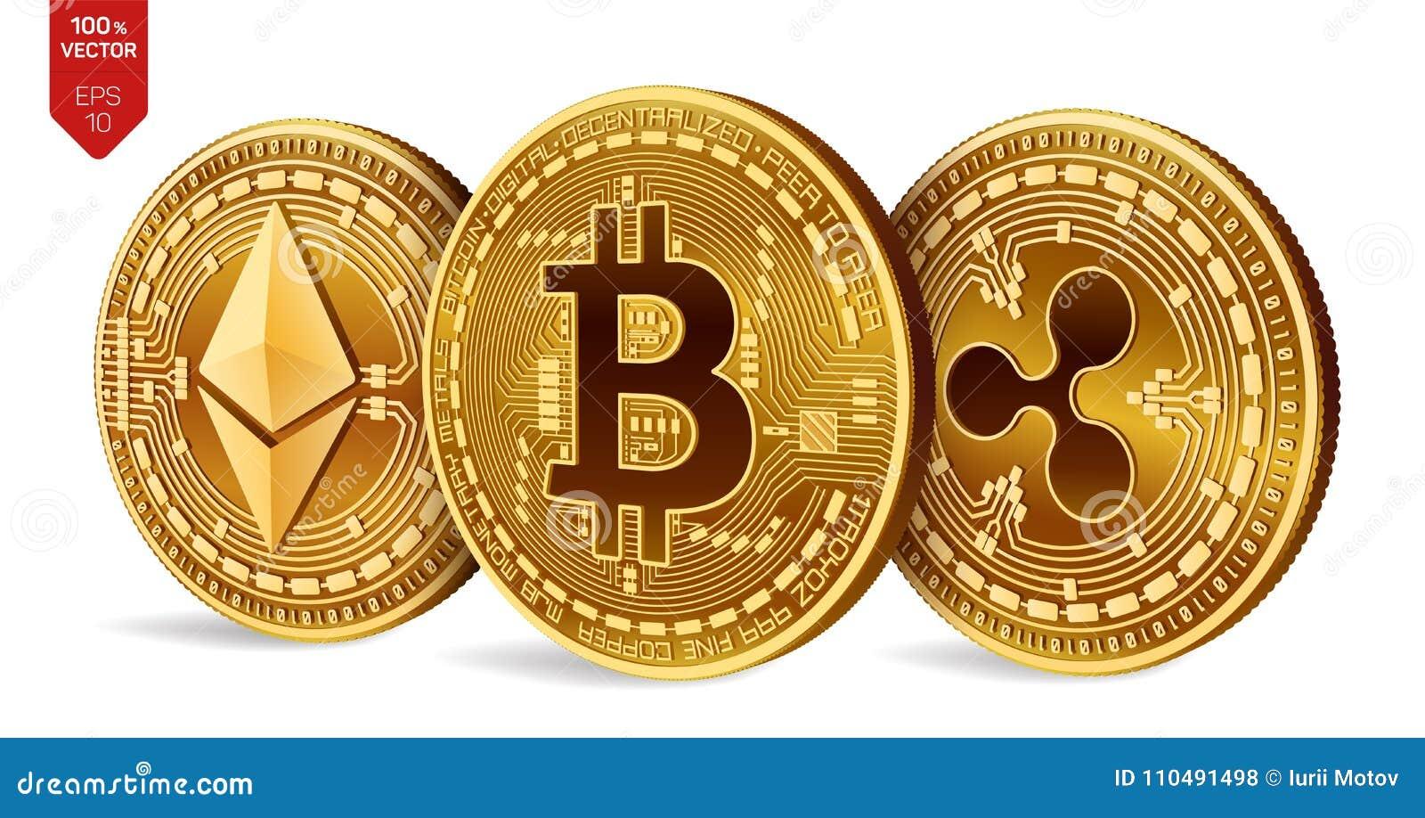 Vendere, Cryptocurrency, Comprare, Sopra, Monete, Lineetta, Commercio, Ondulazione, Ethereum,