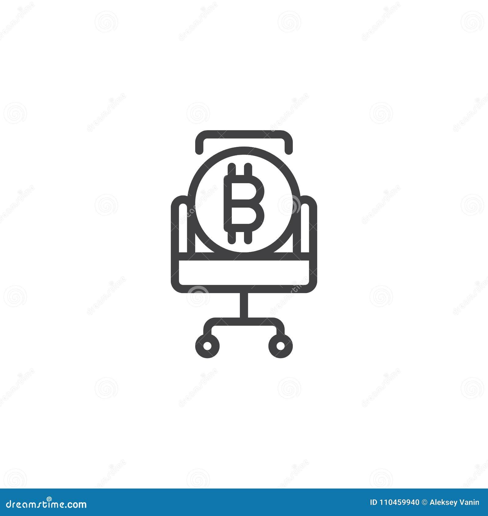 Bitcoin på stolöversiktssymbol