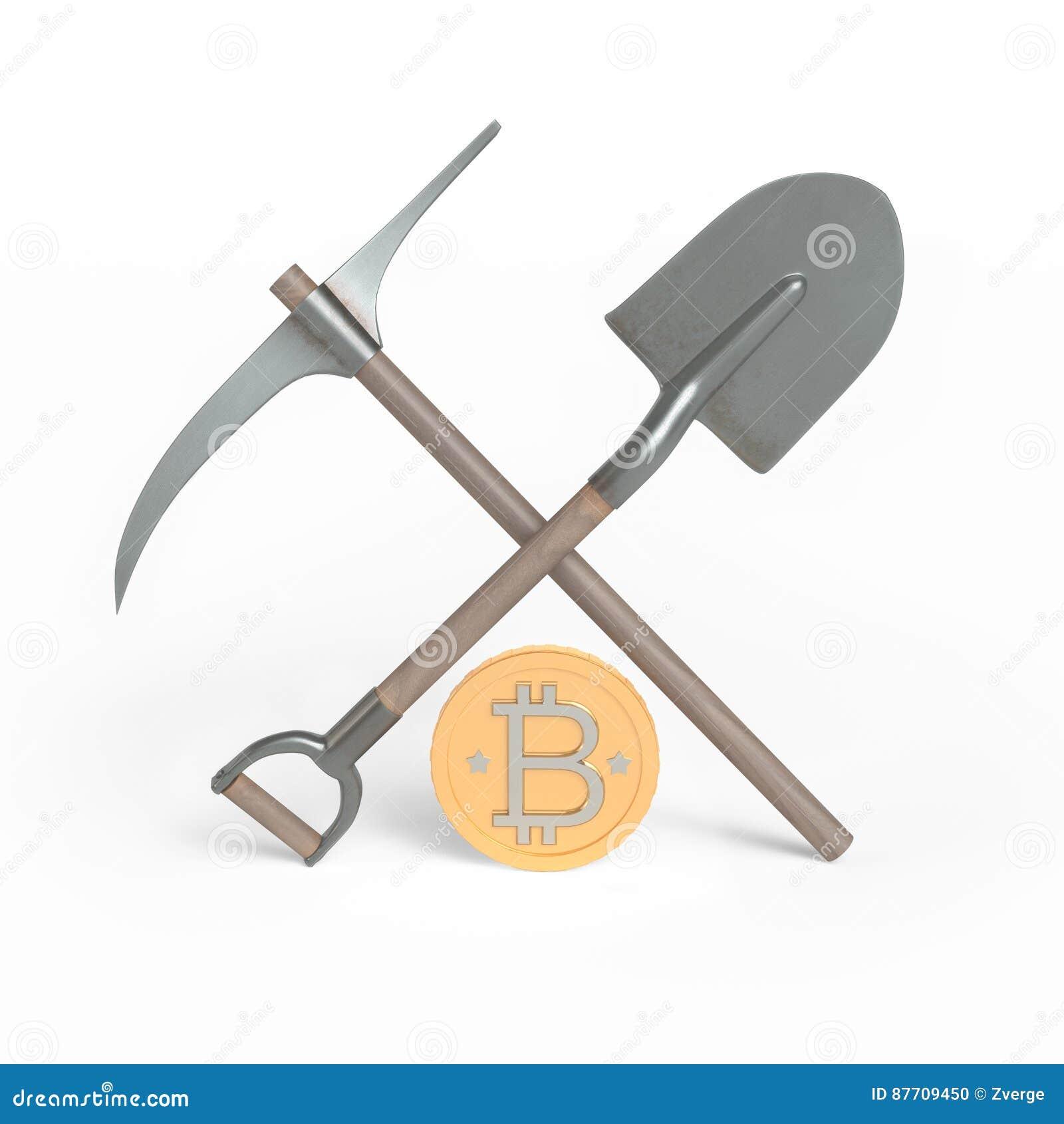 Bitcoin Pépite de pelle, de pioche et d argent
