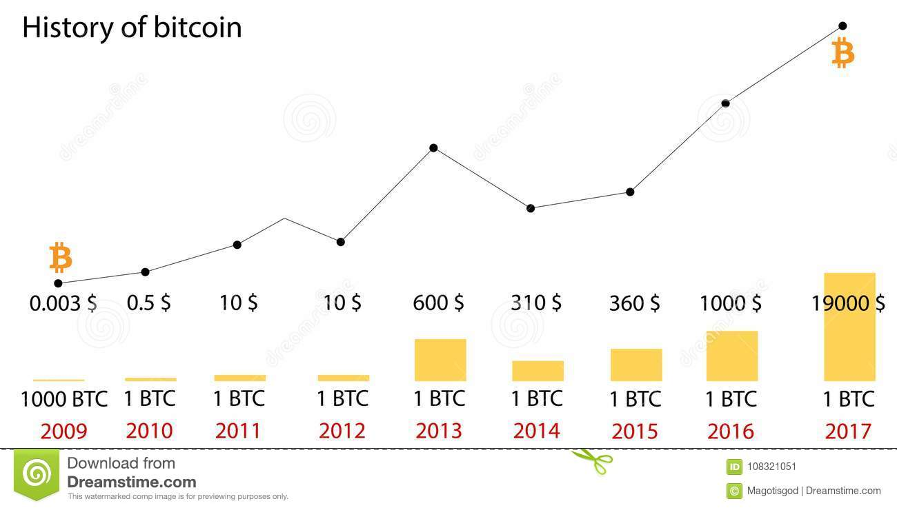 Bitcoin Price History. Infographics Of Changes In Prices ...