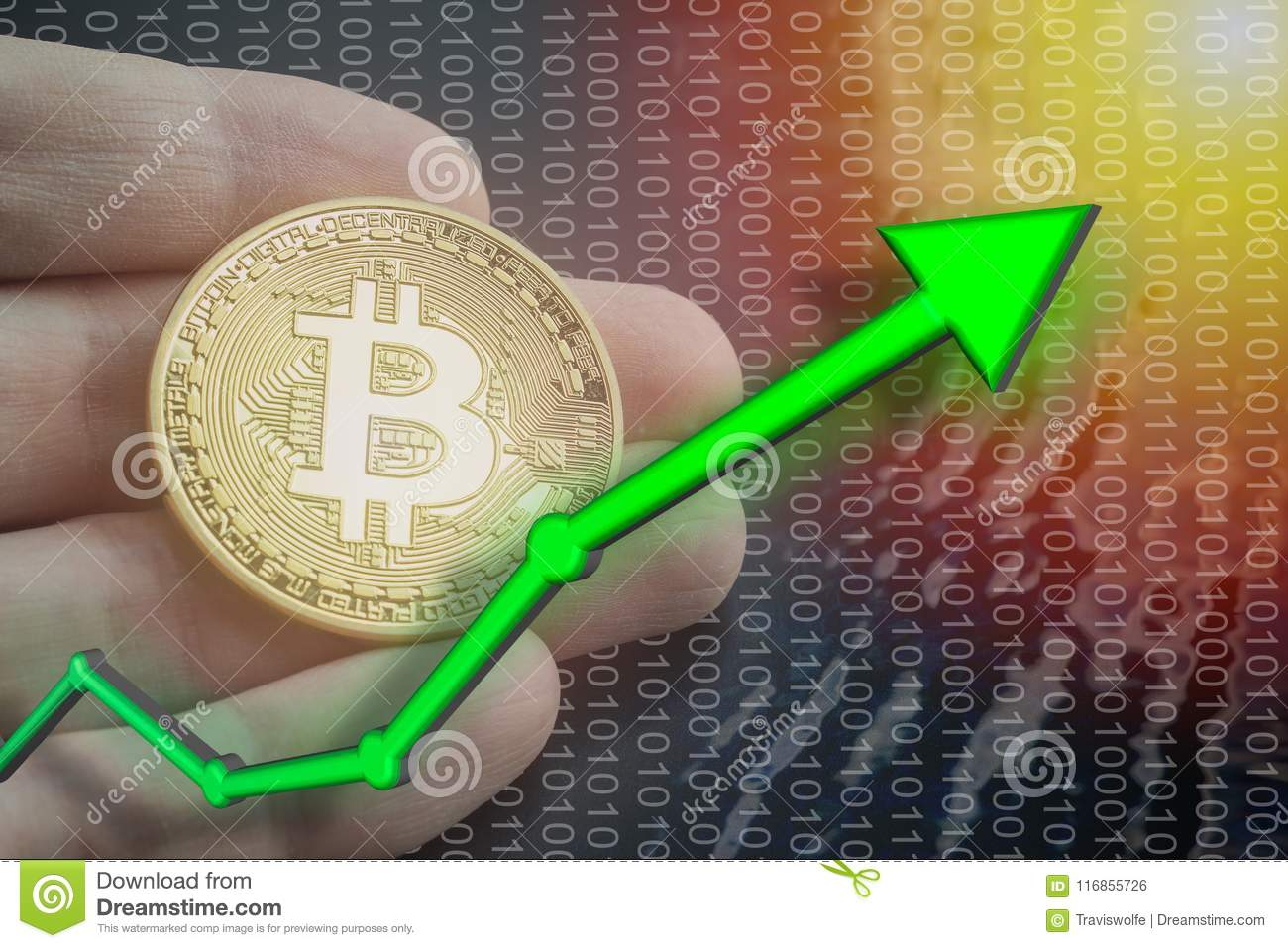 Light With Bitcoin Price Rising And Increase Value Of BTC