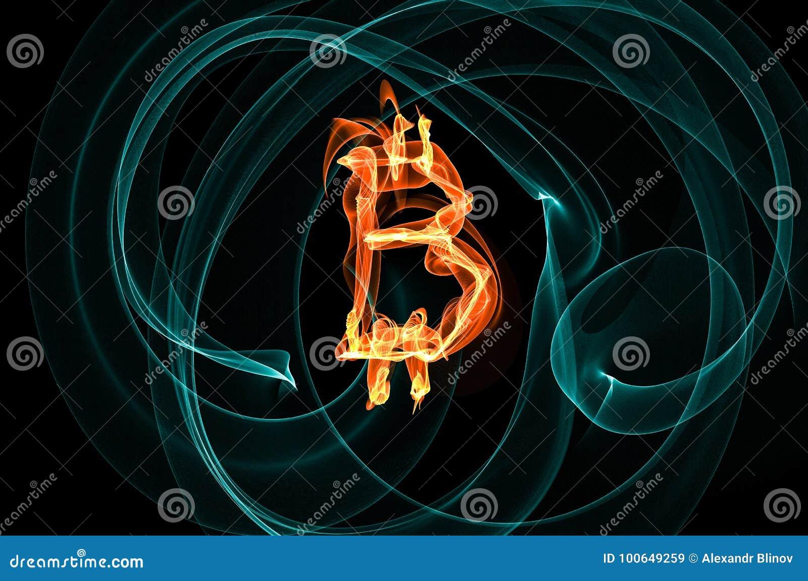 Bitcoin Sign Over Black Background Stock Illustration ...