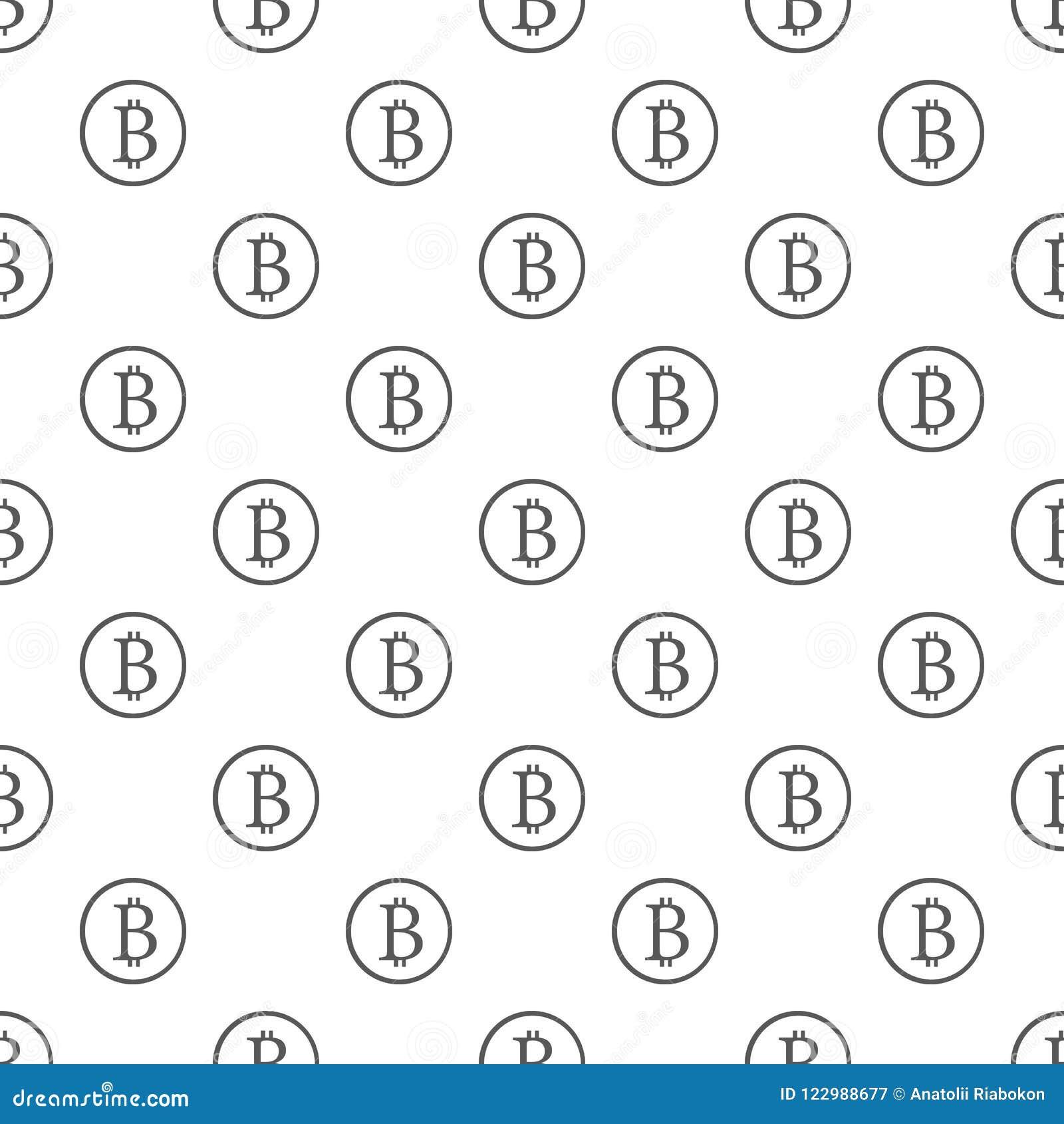 Bitcoin Sign Pattern Seamless Stock Illustration