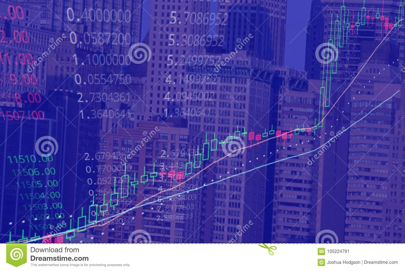bitcoin stock market rising concept stock illustration