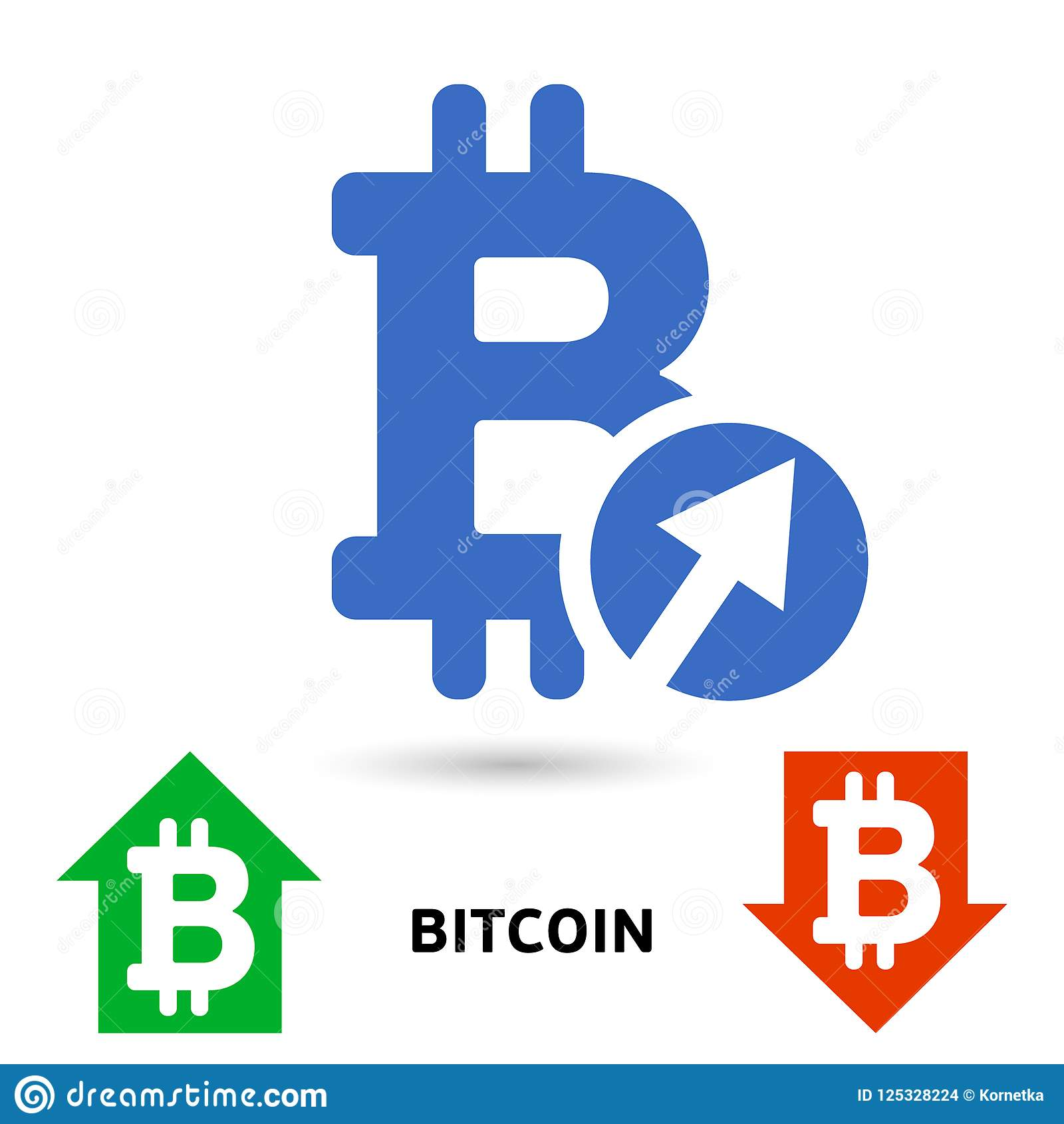 Bitcoin Symbol In Flat Design For Internet Money Symbol Of The
