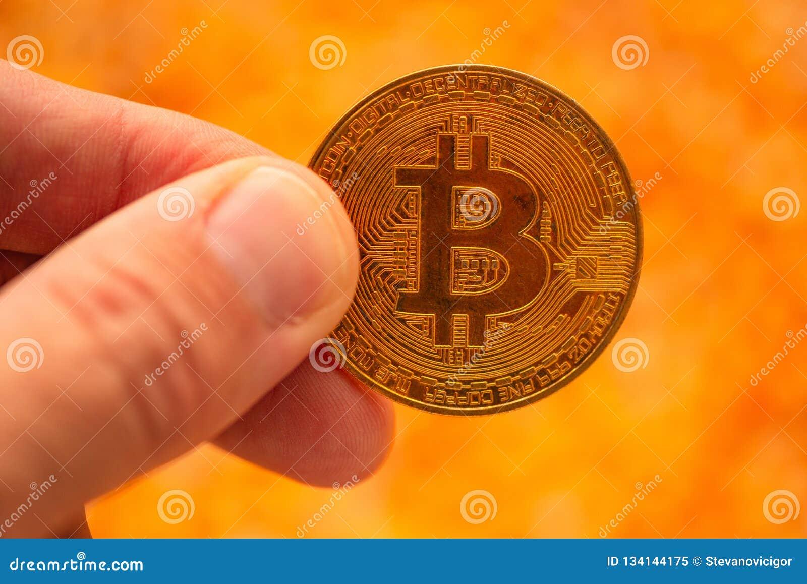Bitcoin ter beschikking over de hoop van graanpitten