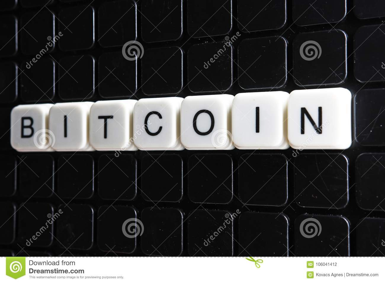 Bitcoin Title Text Word Crossword Alphabet Letter Blocks Game