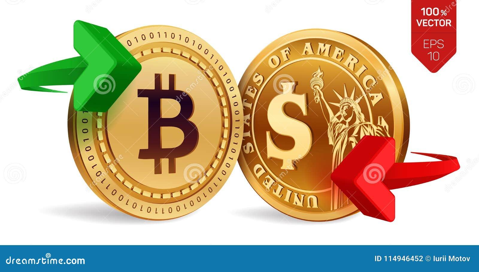 Bitcoin To Dollar Currency Exchange  Bitcoin  Dollar Coin