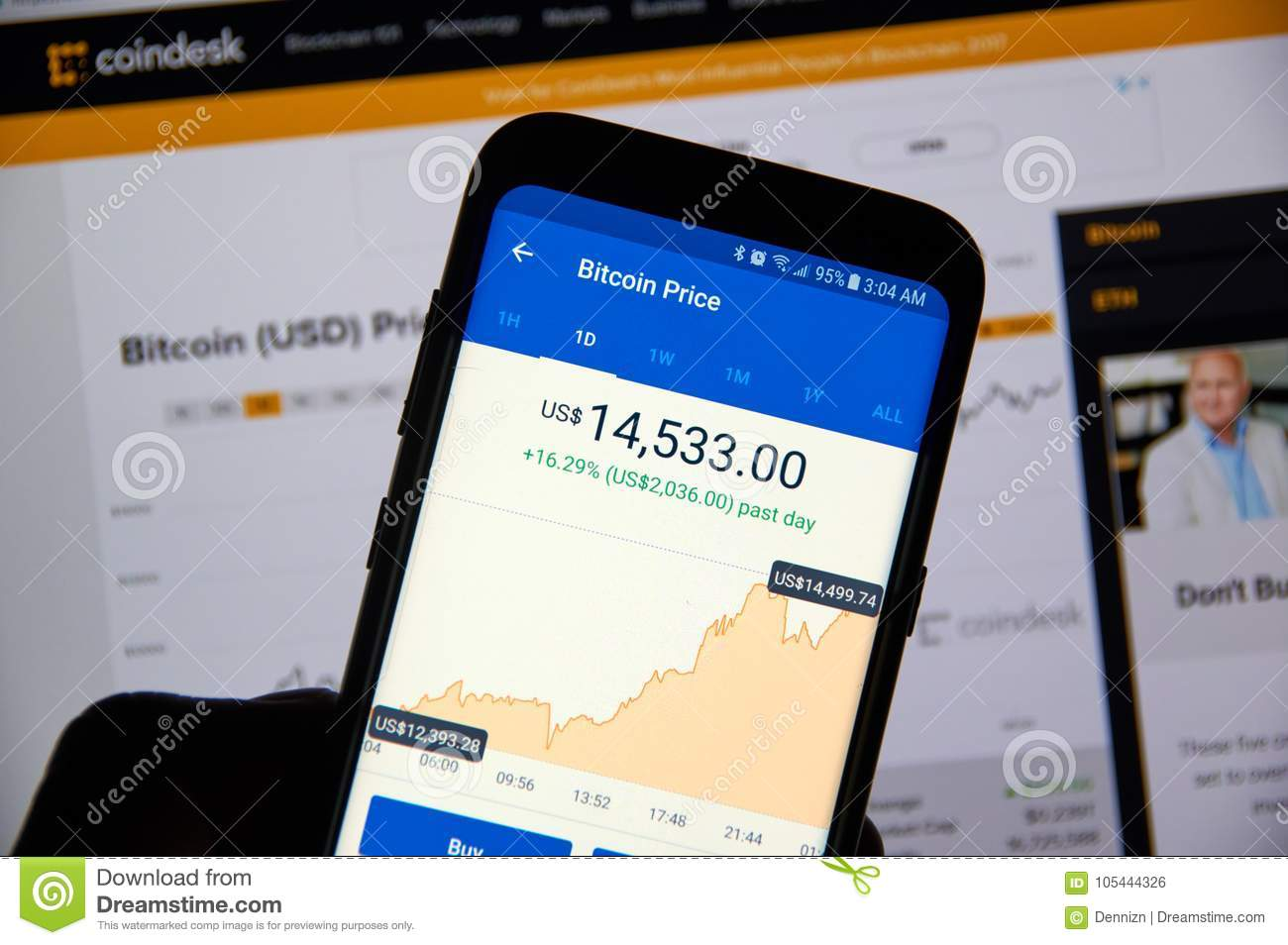 Bitcoin USD Price On Coinbase Android App Editorial Photo - Image of
