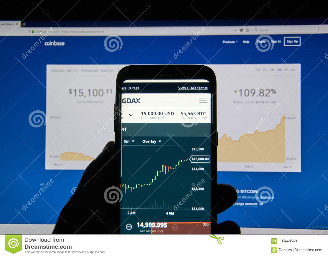 Bitcoin USD Price On Coinbase Android Application GDAX Editorial