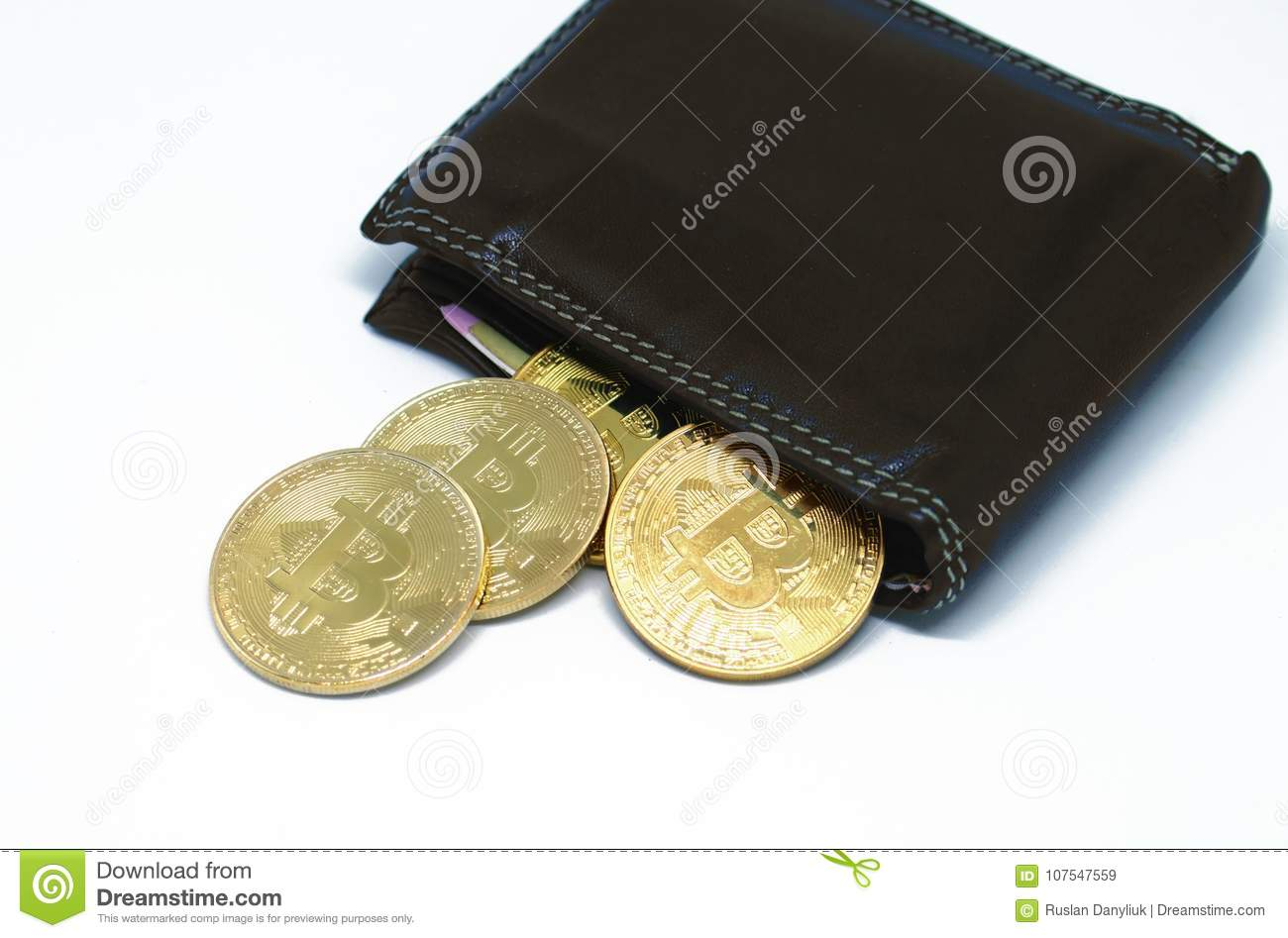 Bitcoin wallet with coins on a white background stock image image download bitcoin wallet with coins on a white background stock image image of conceptual ccuart Choice Image