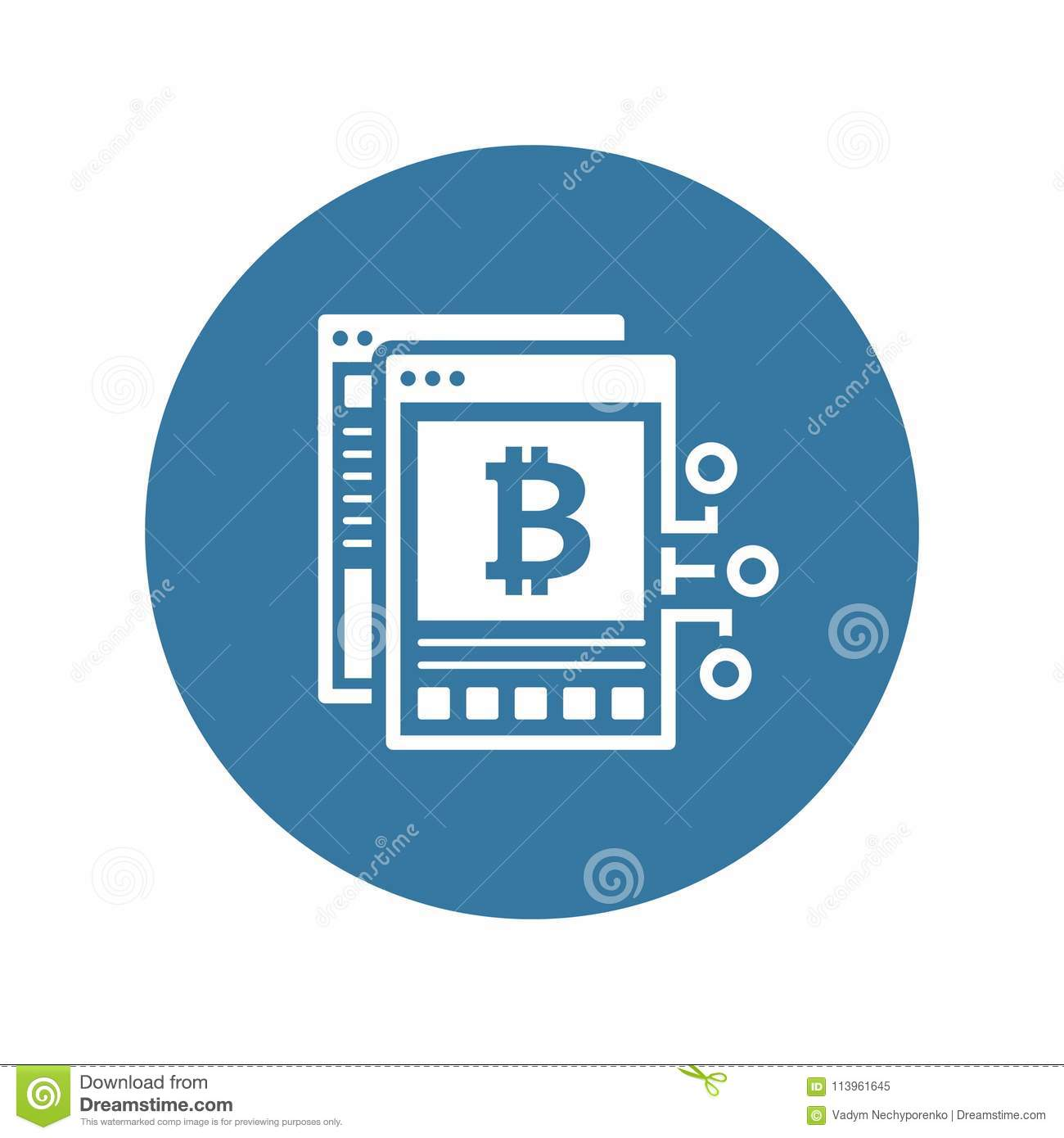Bitcoin White Paper Icon. stock vector. Illustration of ...