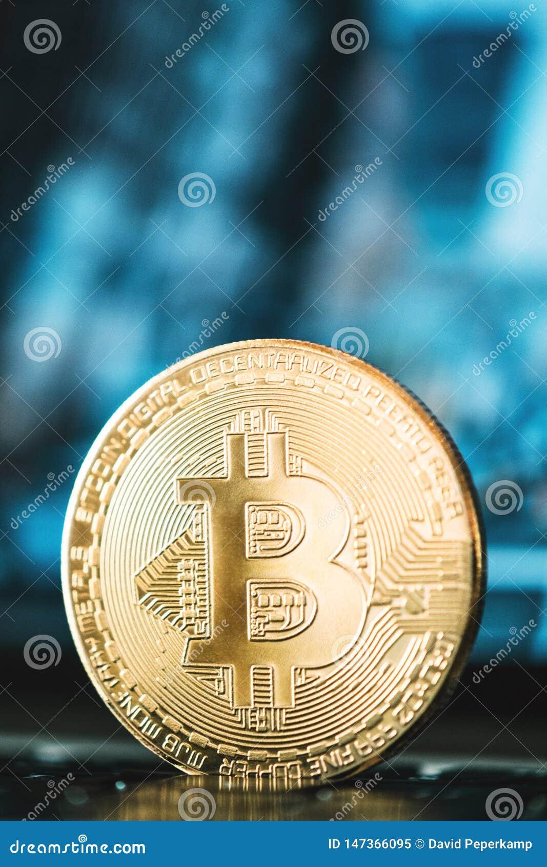 Bitcoinclose-up, bedrijfsachtergrond, bitcoin concept, cryptocurrency, blockchain