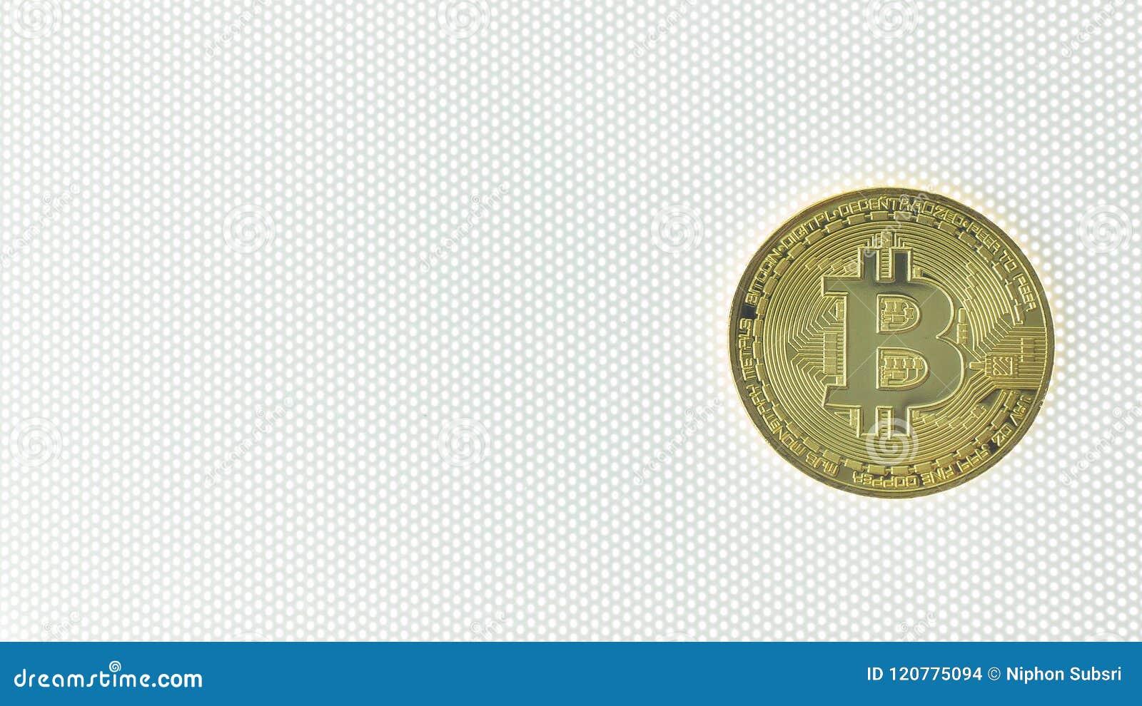 Bitcoincrypto het beeldclose-up van het munt elektronische geld
