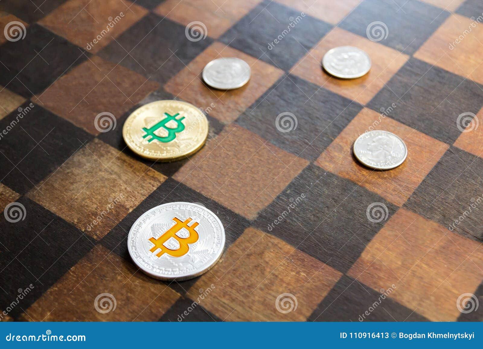 Bitcoins is binnen tegengesteld aan dollars