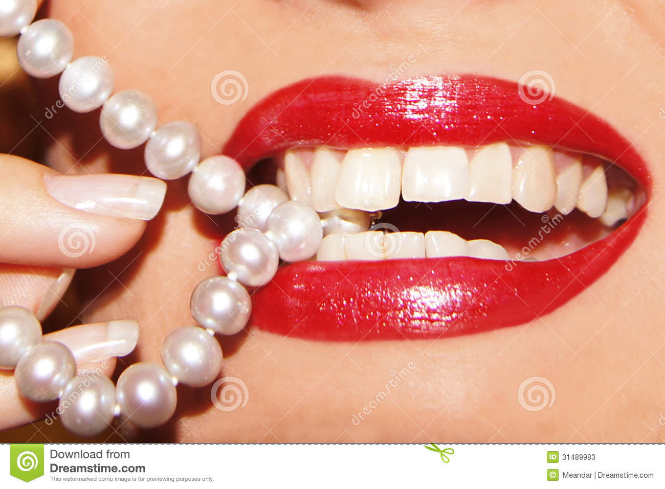 Bite My Pearls Stock Photos Image 31489983